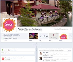 Acenor Facebook page