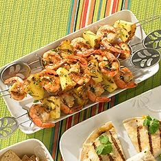 Tequila-Lime Shrimp and Pineapple Skewers - restmex.com