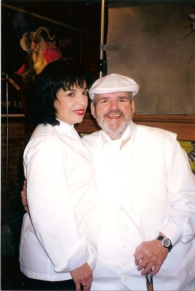 Zarela Martinez and Paul Prudhomme