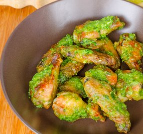 Wings with Peruvian Green Sauce