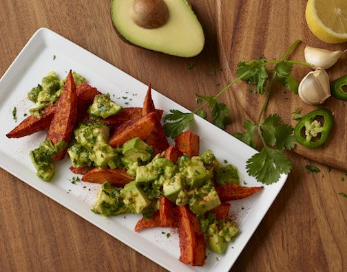 Sweet Potato Wedges with California Avocado Chimichurri