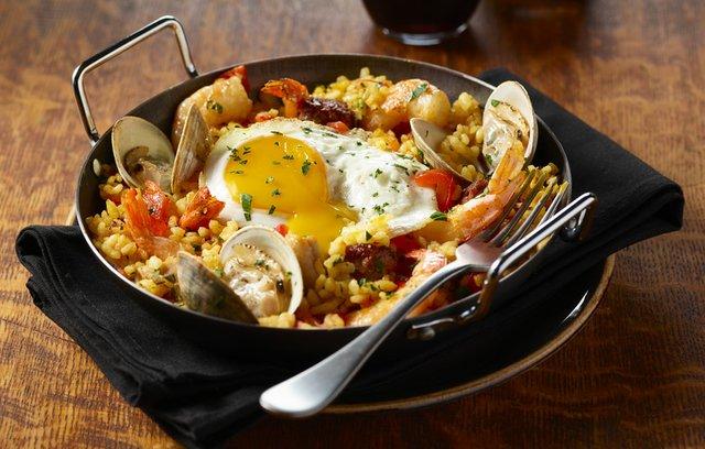 Paella Egg Bowl