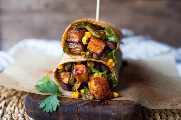 Smoky Idaho® Potato, Corn and Poblano Burrito.jpg