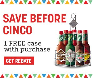 Tabasco BOGO Promotion April 2019
