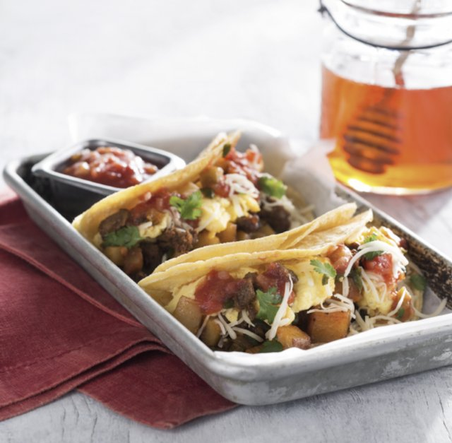 Chorizo Jalapeño Breakfast Tacos