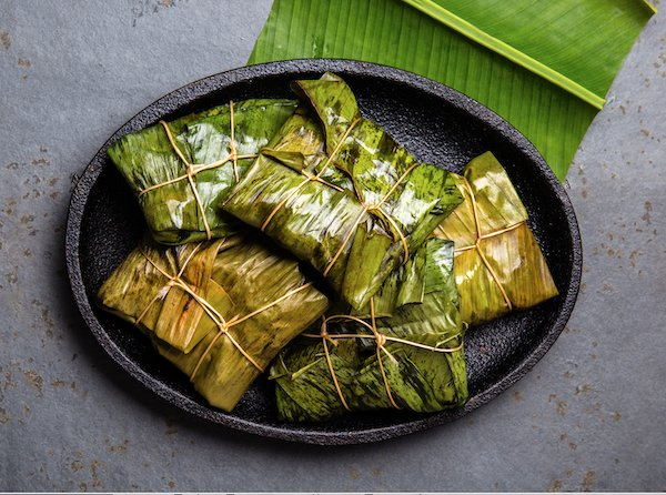 Tamales wrapped in leaves