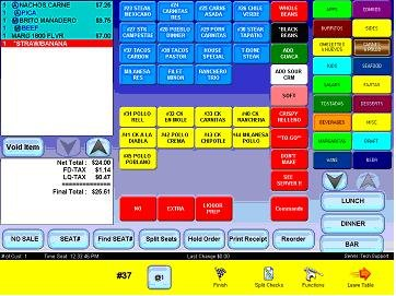 Softec POS user interface