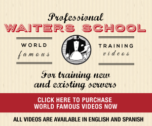 Waiter's Training 2016 ad